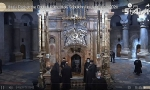 Holy Fire ceremony at the empty Church of the Holy Sepulchre in Jerusalem