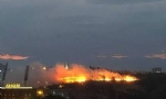 Huge Fire Breaks Out Near Armenian Genocide Memorial in Yerevan.