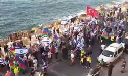 ​Azeri Demonstrators Protest At Armenian Monastery In Israel.