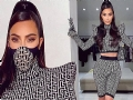 Kim Kardashian models a Balmain face mask as she graces Instagram in an ensemble specially curated b