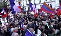 Thousands of Armenians protest in Paris, demanding recognition of Artsakh's independence