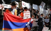 Artsakh children and women who fled their homes urge the UN not to turn a blind eye on Azerbaijani a