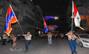 Thousands march in Syria in support of Artsakh