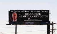 ​Billboards calling on President Biden to recognize the Armenian Genocide placed in Pennsylvania